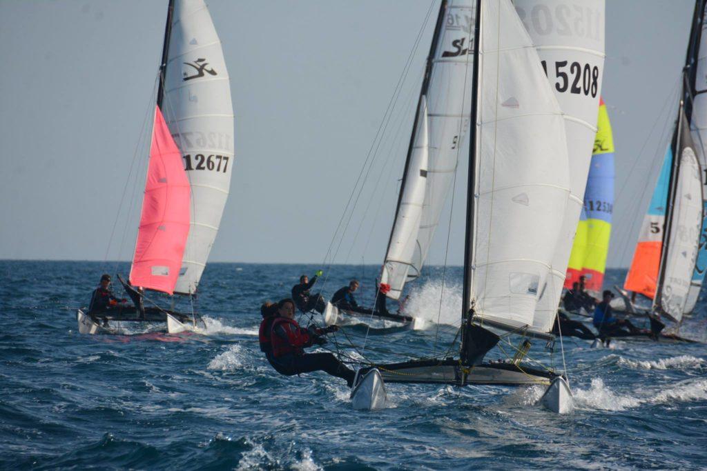 National jeune catamaran à Cagnes-sur-Mer